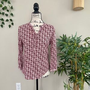 Lucky Brand Pink and Red Printed Top